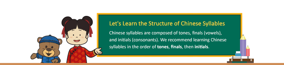 Let's Learn the Structure of Chinese Syllables